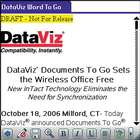 Documents To Go for Palm OS, Word To Go